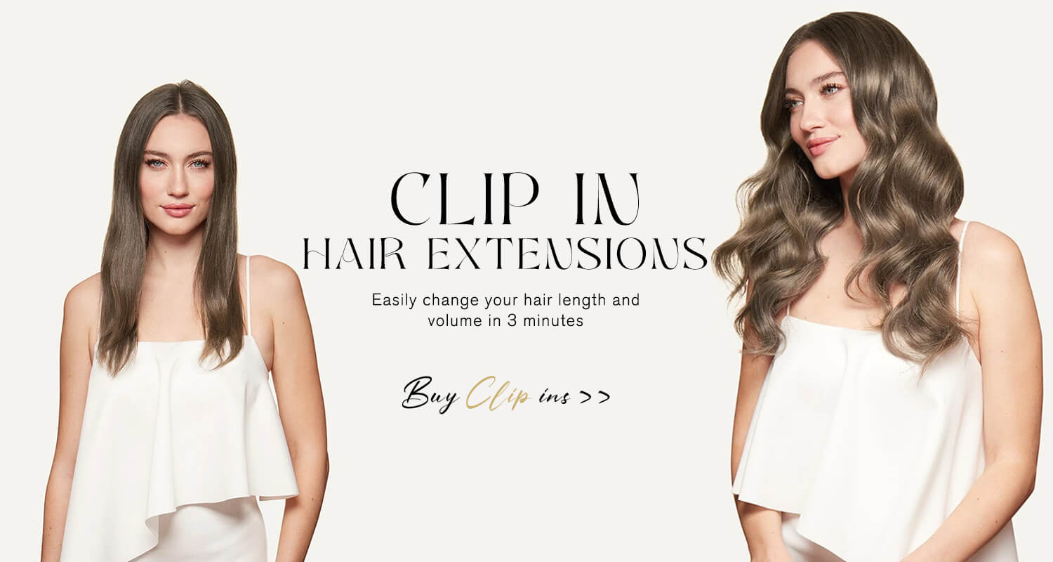 Clip in hair extension easy to wear