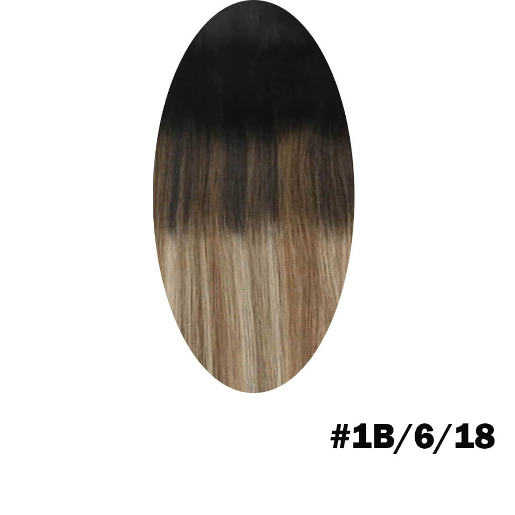 Balck and brown to blonde hair extensions