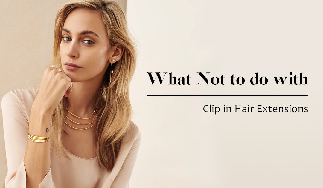 Thick end clip in hair extensions
