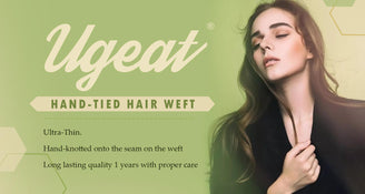 Hand tied hair weft extension
