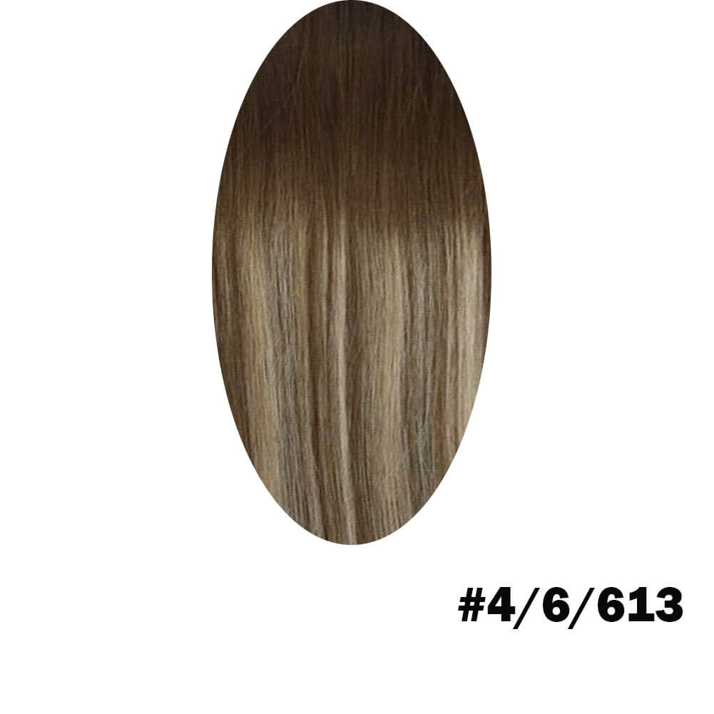 Brown to light brown and blonde hair extension
