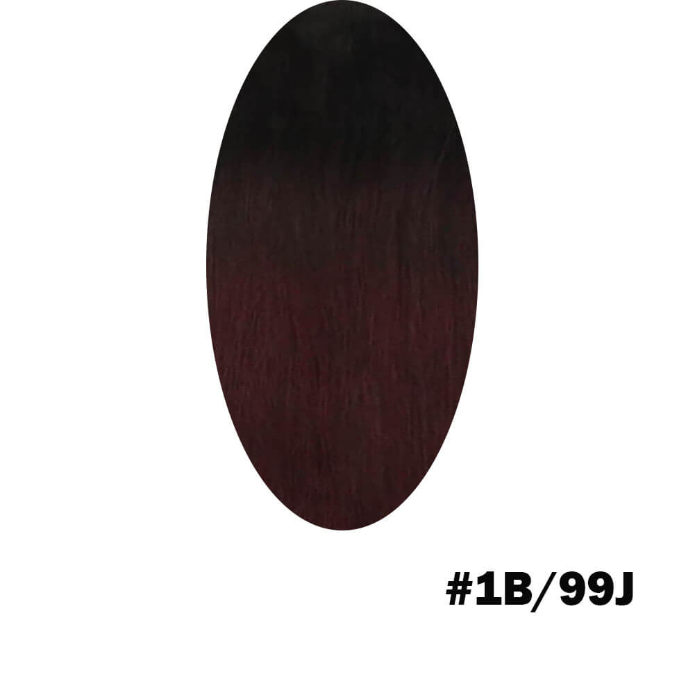 Black and wine red hair extensions