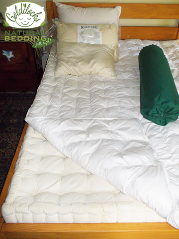 Chemcial free Kapok Bedding System. Mattress, Pillow, Doona, Bolster