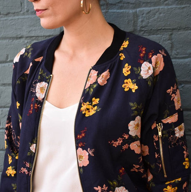 Sanctuary Woodlands Bomber Jacket Fall florals