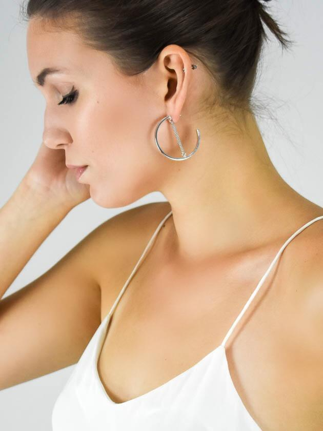 Jenny Bird Mia Hoop Silver Earrings - MissionEdit