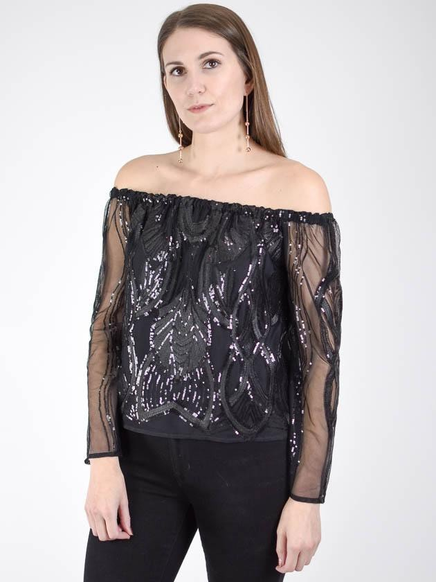 Three Eighty Two Elie off the Shoulder Top - MissionEdit