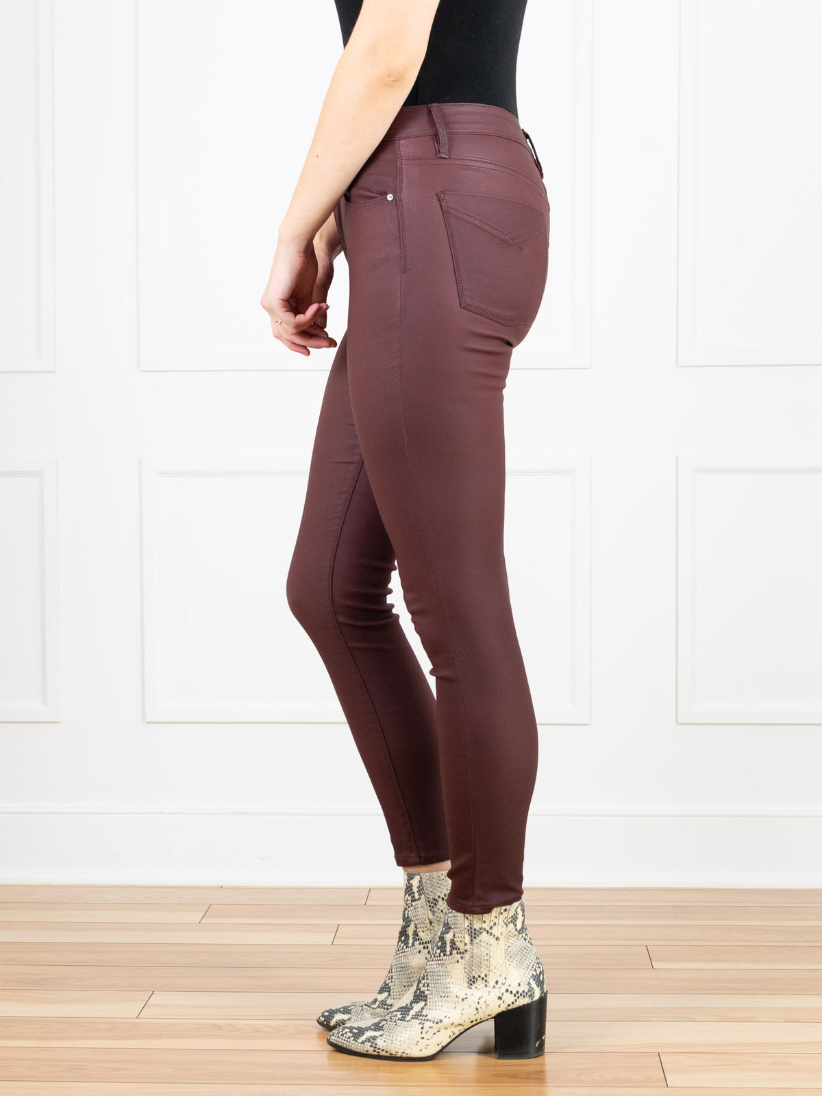 Olivia High Rise Skinny Mulberry