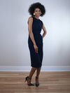 Blaque Label Navy Fitted Pencil Dress - MissionEdit