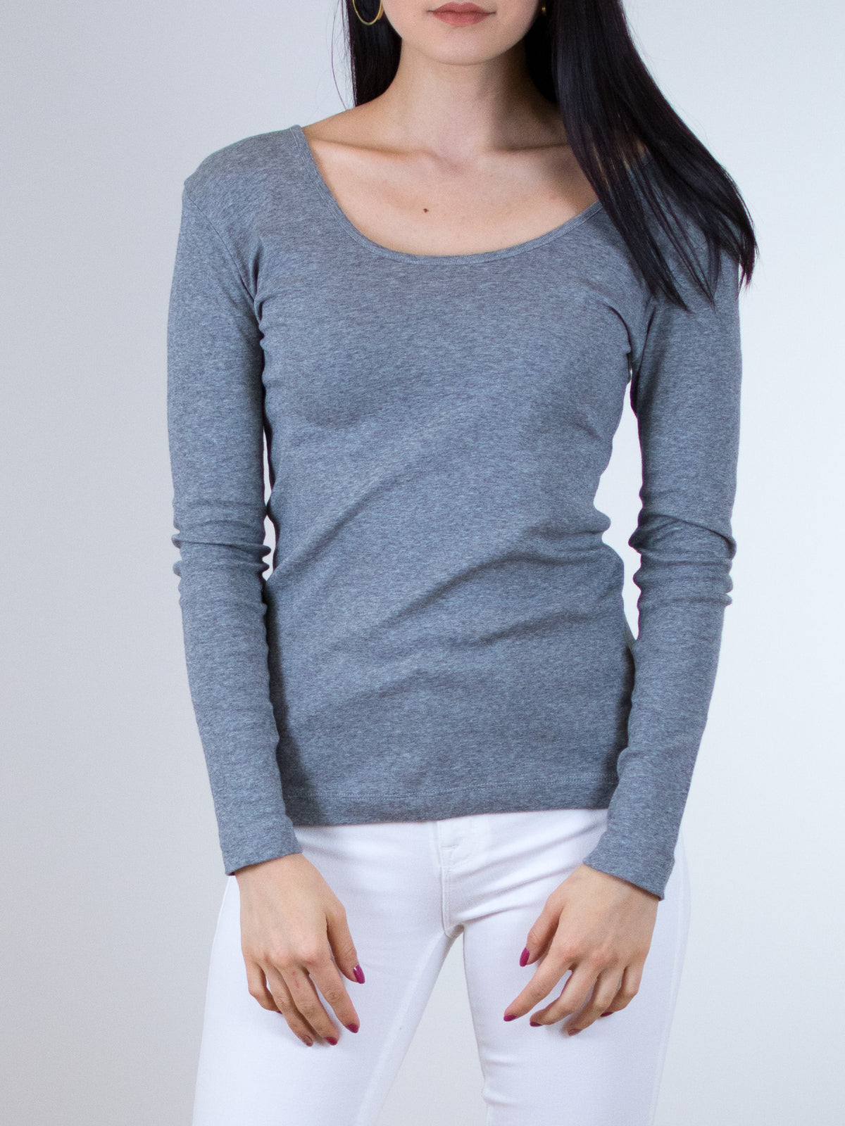 Indigenous Organic Heather Grey Two Way Pullover - MissionEdit