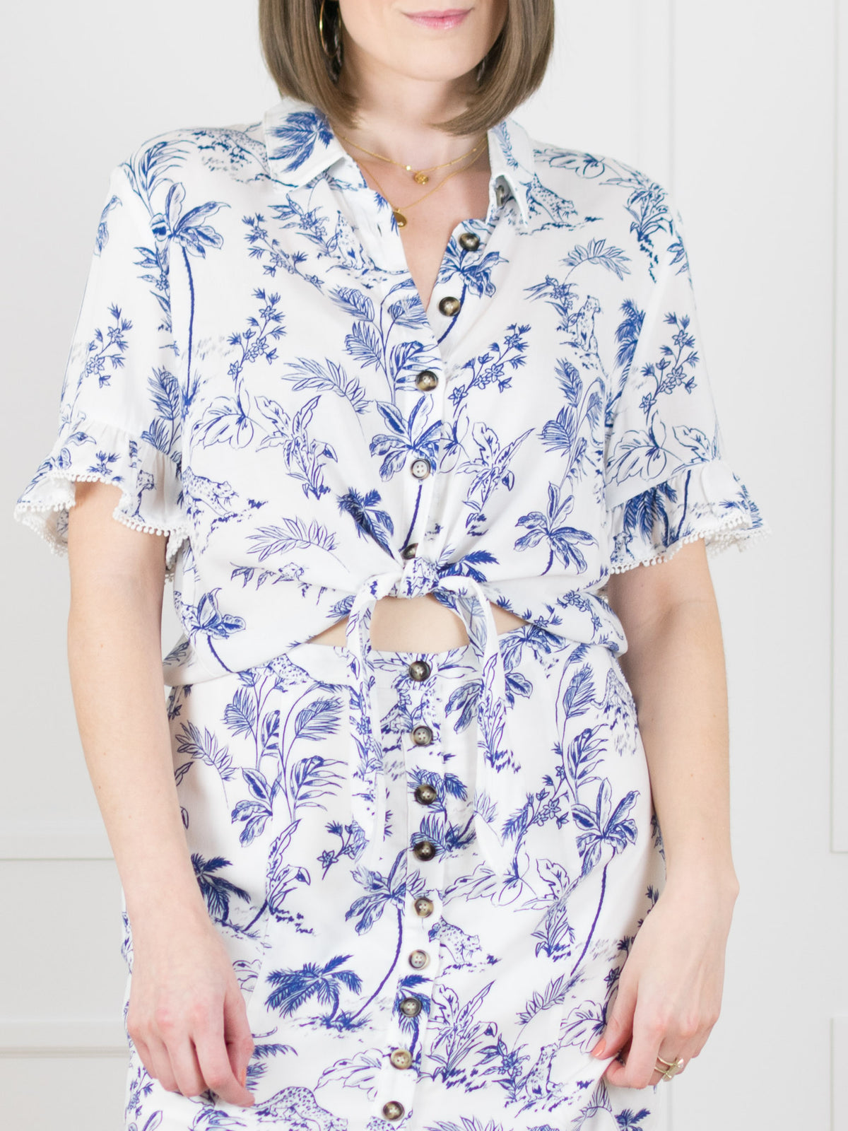 Blue Palm Nights Shirt