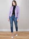 Sofia Lilac Leather Lambskin Moto Jacket