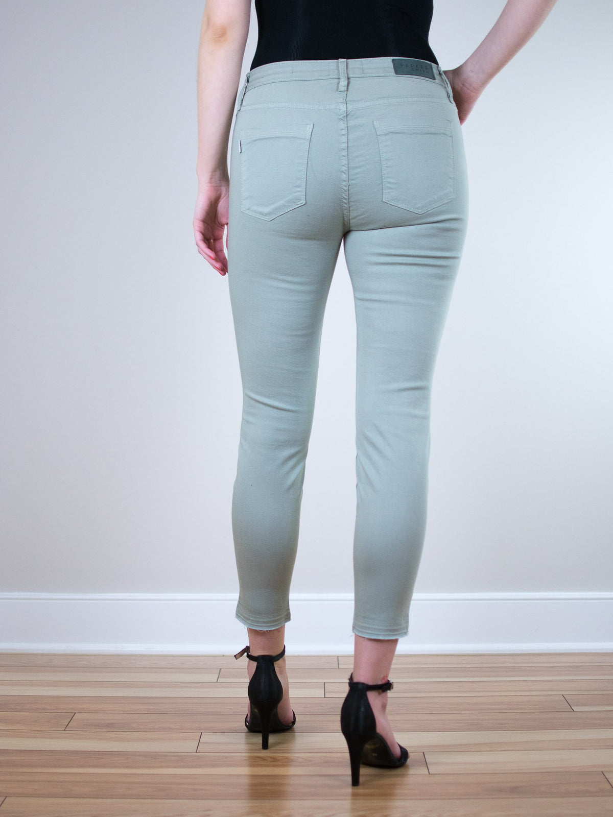 Parker Smith Ava Crop Skinny in Sage - MissionEdit