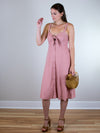 Splendid Dahlia Linen Slub Midi Dress - MissionEdit
