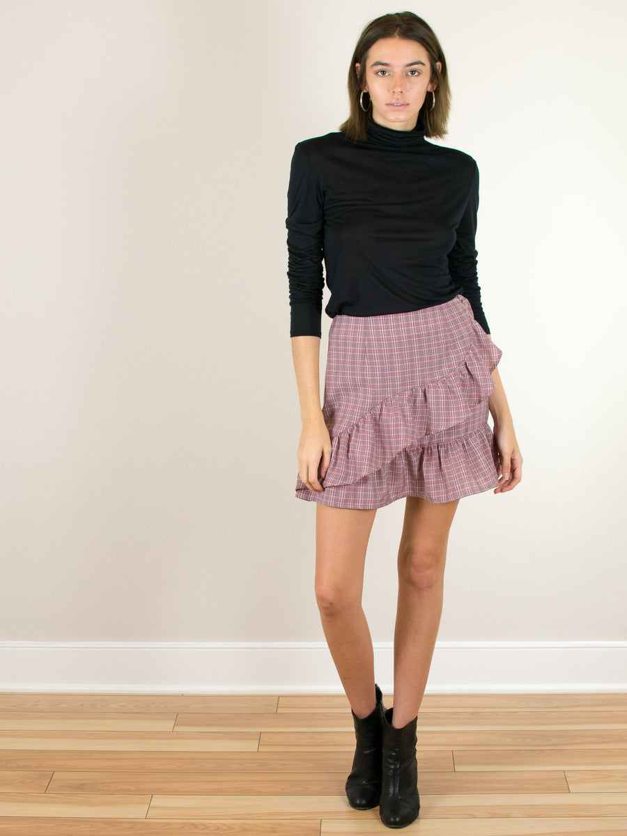 Collegiate Check Skirt