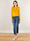 The Fifth Label Symbols Long Sleeve Top in Mustard - MissionEdit