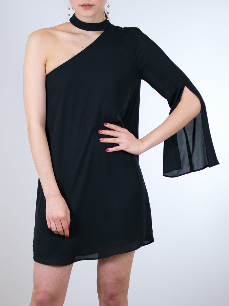 Three Eighty Two Ally Slit Sleeve Mini Dress - MissionEdit