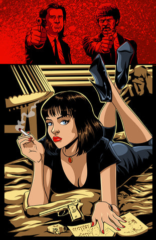 Signed Pulp Fiction Art Print