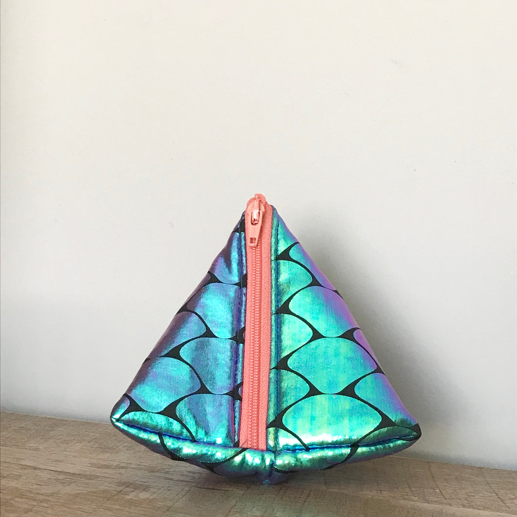 Mermaid Scale Triangle Pouch