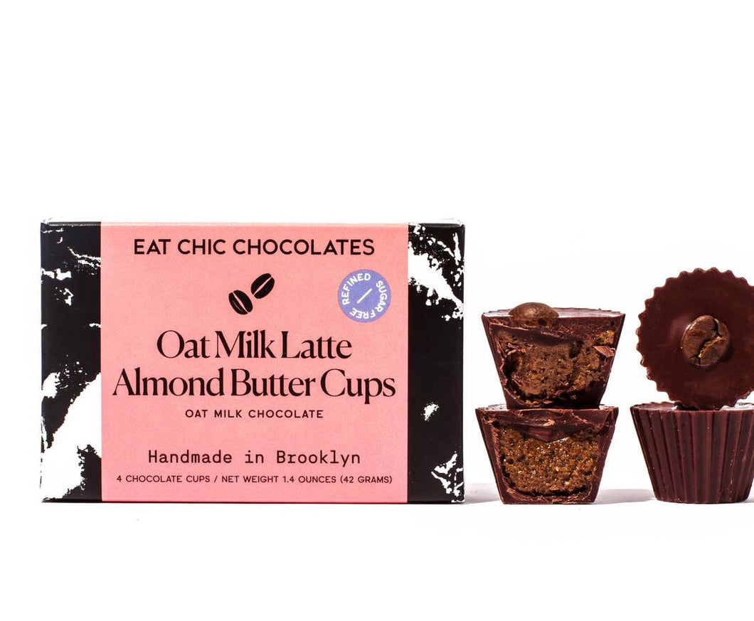 Oat Milk Latte Almond Butter Cups