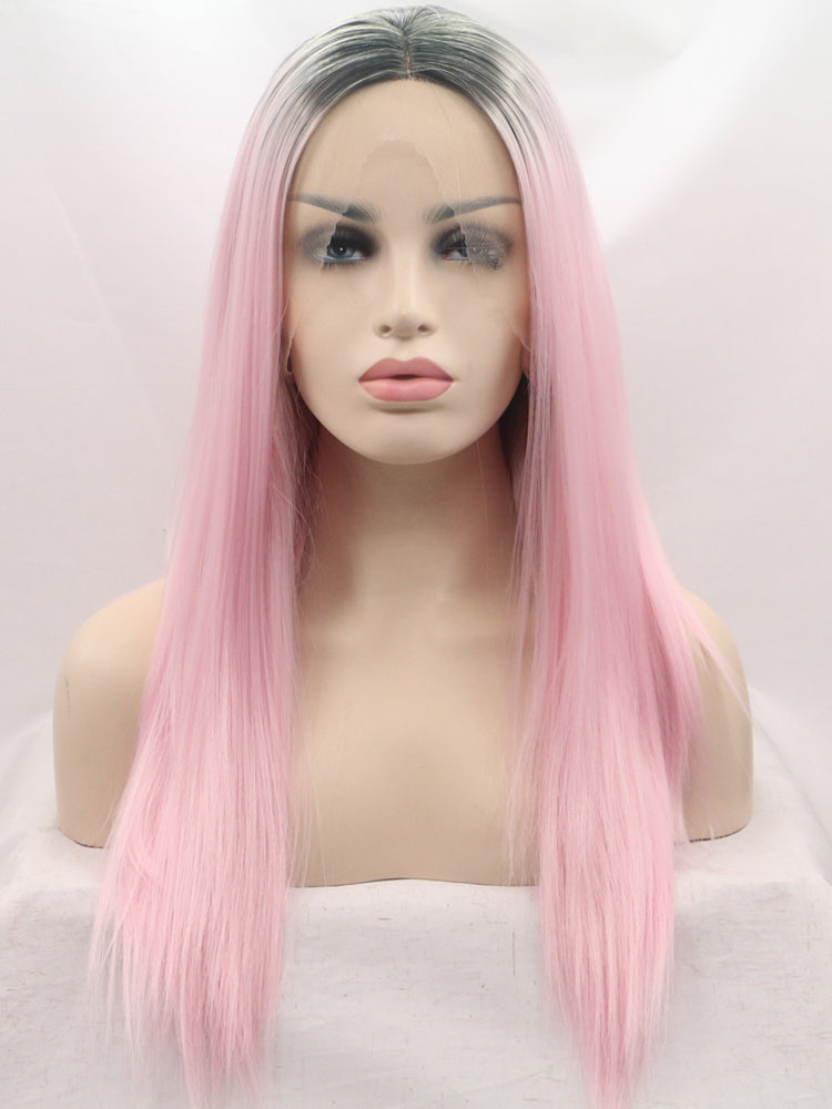 Julia Pink Ombre Synthetic Lace Front Wig DL0002 - princesswig