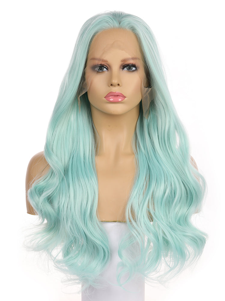 Bella Fairy Green Synthetic Lace Front Wig DL0005 - princesswig