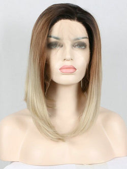 Unicorn Ashy Blonde Ombre Bob Synthetic Lace Front Wig DL0007 - princesswig