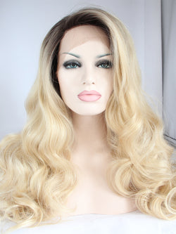 Jenny Ombre Blonde Synthetic Lace Front Wig DL0008 - princesswig
