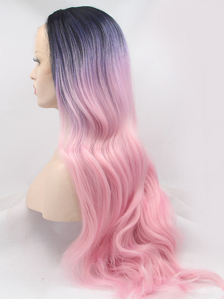 Anna Pink Blue Triple Synthetic Lace Front Wig DL0009 - princesswig