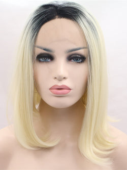 Betty Ombre Blonde Bob Synthetic Lace Front Wig DL0015 - princesswig