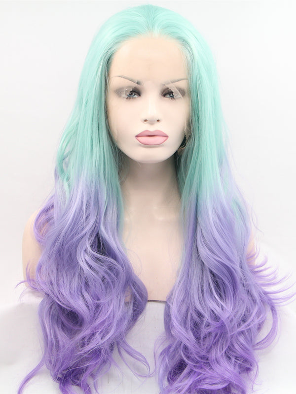 Ivy Green Pastel Synthetic Lace Front Wig DL0019 - princesswig