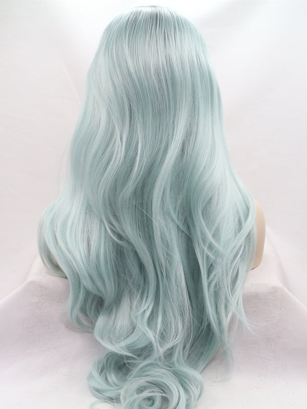 Dolly Green Ombre Synthetic Lace Front Wig DL0023 - princesswig