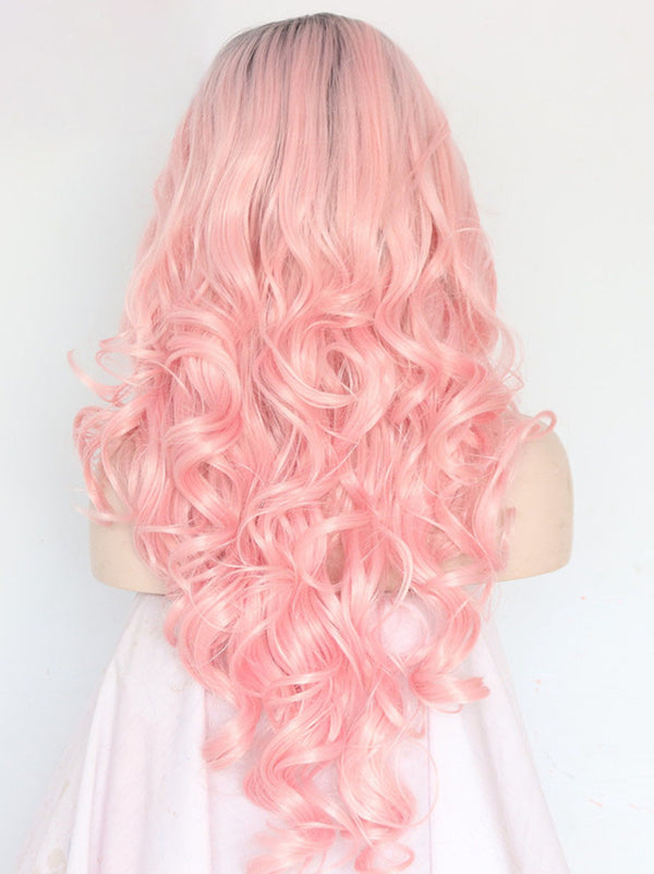 Carol Pink Ombre Wave Synthetic Lace Front Wig DL0036 - princesswig