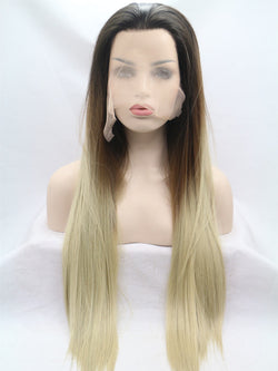 Rita Blonde Ombre Handtied Synthetic Lace Front Wig DL0039 - princesswig