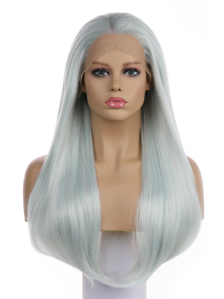 April Light Green Long Synthetic Lace Front Wig DL0040 - princesswig