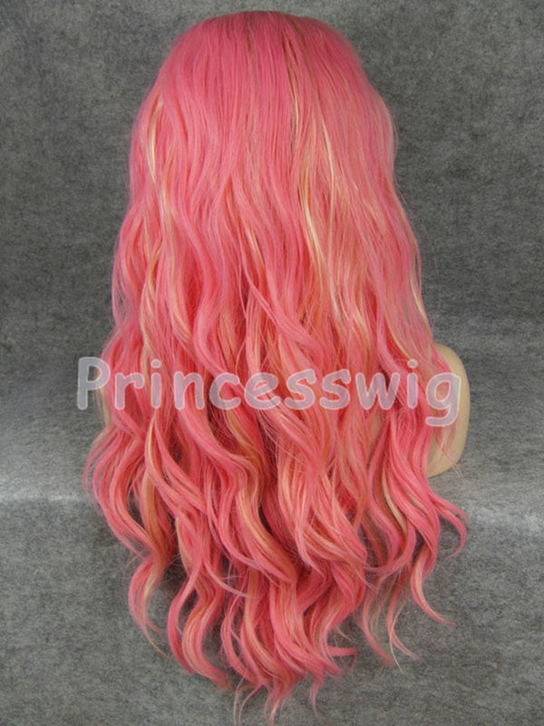 Abigail Red Wave Handtied Synthetic Lace Front Wig DL0047 - princesswig