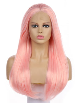 Barbie Light PinkHandtied Synthetic Lace Front Wig DL0052 - princesswig