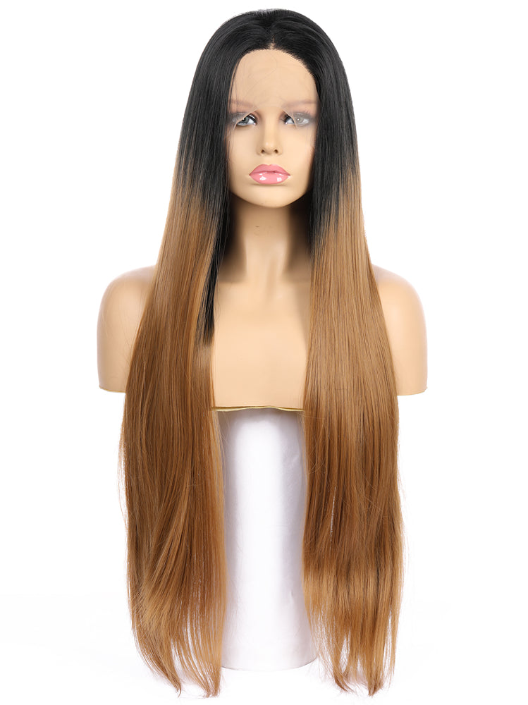 Nancy Ombre Brown Handtied Synthetic Lace Front Wig DL0055 - princesswig