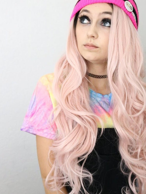 Lucy Pink Ombre Synthetic Lace Front Wig DL0013 - princesswig