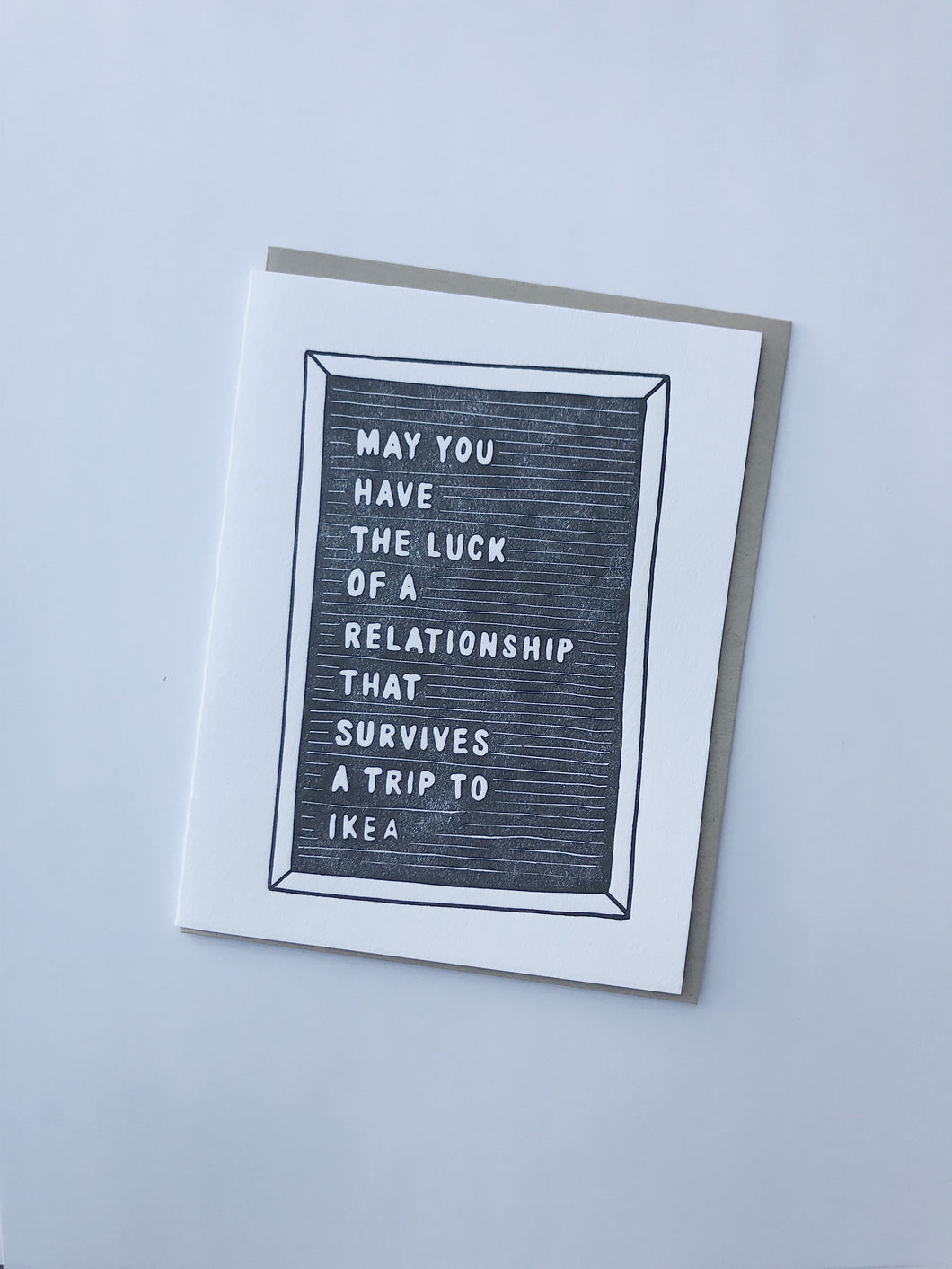 'Relationship' greeting card