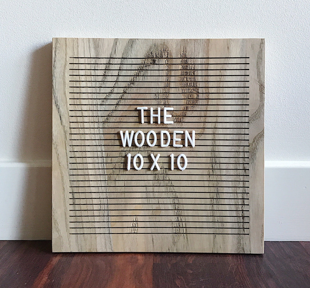 *NEW* The Wooden 10 x 10