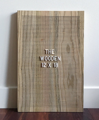 wooden letterboard home decor