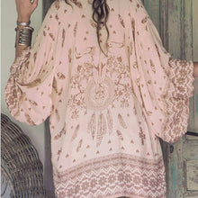 Long Sleeve Loose Pink Cover Up