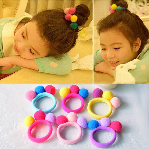 Cute 3 Balls Elastics Hair Bands