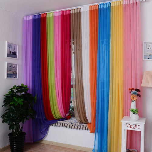 Rainbow Solid Window Curtains