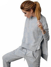 Irregular Sweatshirts Tops+Pants Suit