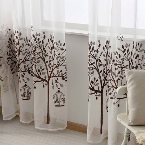 Modern Window Voile Curtain