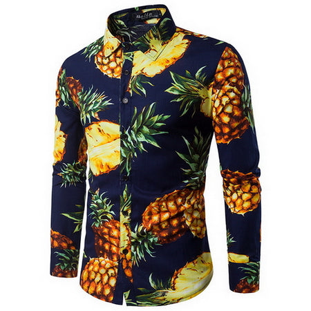 Pineapple Style Casual Men Shirt