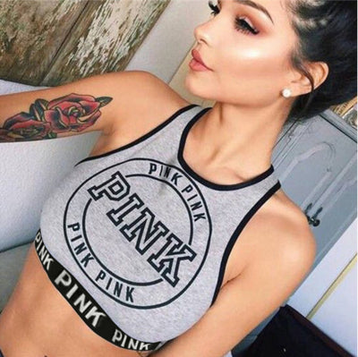 Gray Sporty Bustier Crop Top