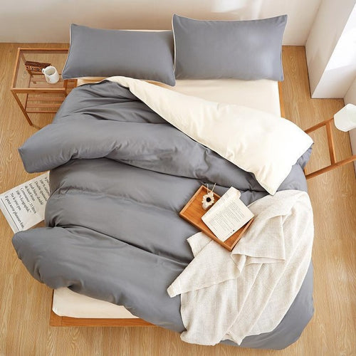 Solid Microfiber Bedding Set