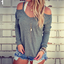 Spring Autumn Loose Off Shoulder Sweater